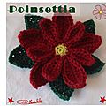 Poinsettia au crochet 2