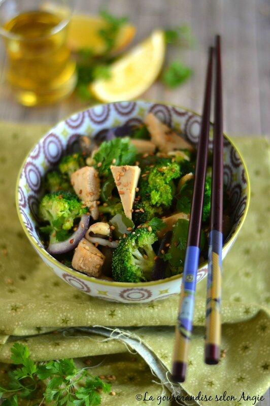 wok tofu et brocoli vegan 1