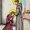 La tonsure de Sainte Claire