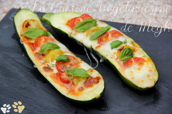 Courgettes farcies tricolores