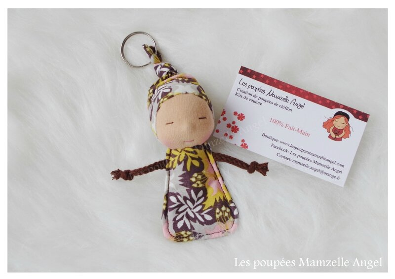 porte clé poupée Tit'Chouquettes Automne