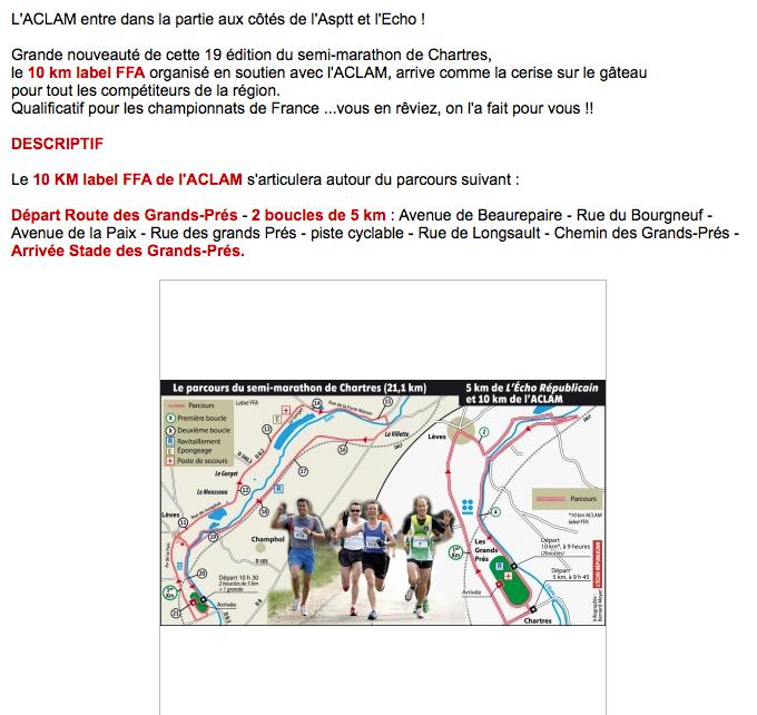 10 kilomètres du semin marathon