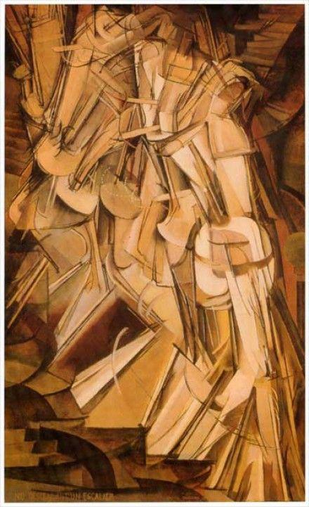 55. Marcel DUCHAMP, Nu descendant un escalier N°2, 1912.
