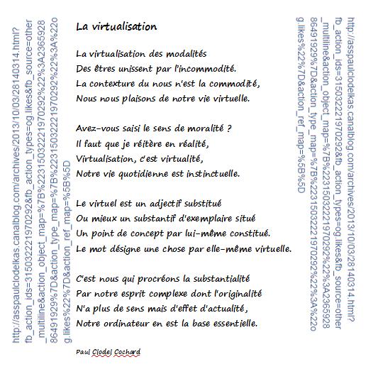 La virtualisation poème