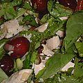 salade de poulet aux raisins et noix de pécan