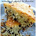 Gateau au yahourt, noisette et ppites de chocolat