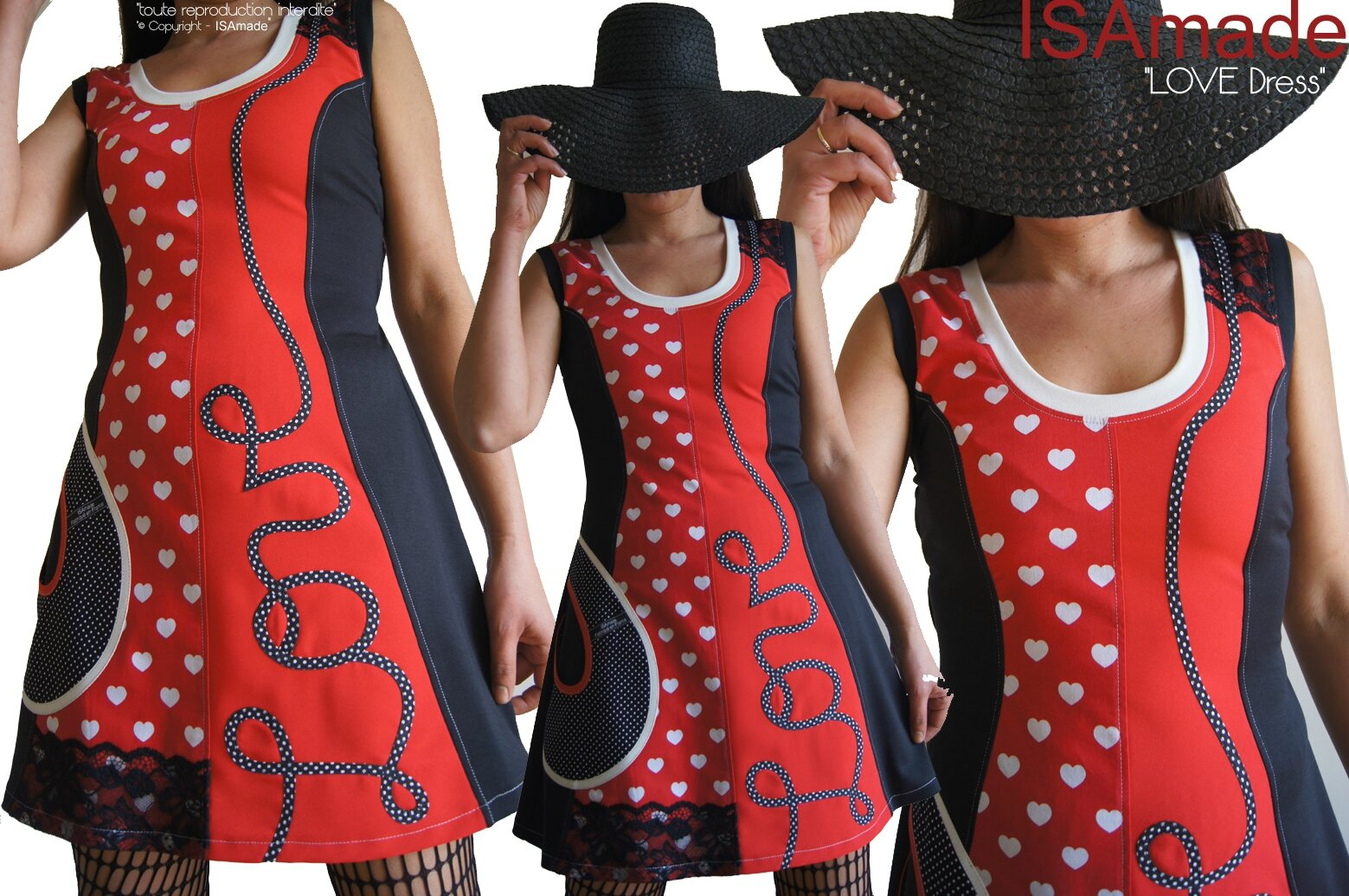 Rouge fatal pour une robe fantaisie love dress comme tenue id ale pour la saint valentin - Tenue originale femme ...
