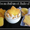 Sabls au safran et huile d'olive...