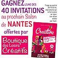40 invitations gratuites à gagner pour le salon de nantes