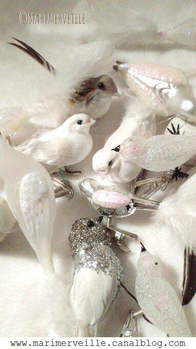 Oiseaux décorations de fête - Noël - Marimerveille