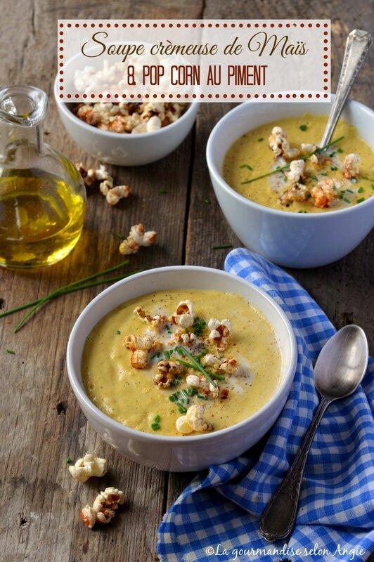 velouté maïs vegan - pop corn piment