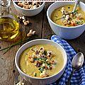 Velouté de maïs au pop corn pimenté #vegan & sans gluten