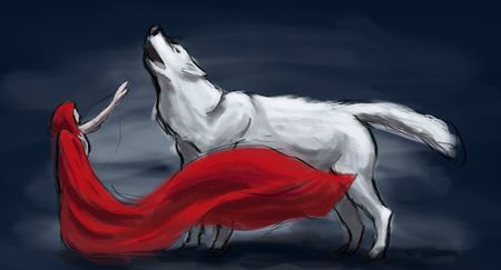 chaperon rouge et loup wip 2