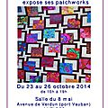 Exposition de patchwork à antibes