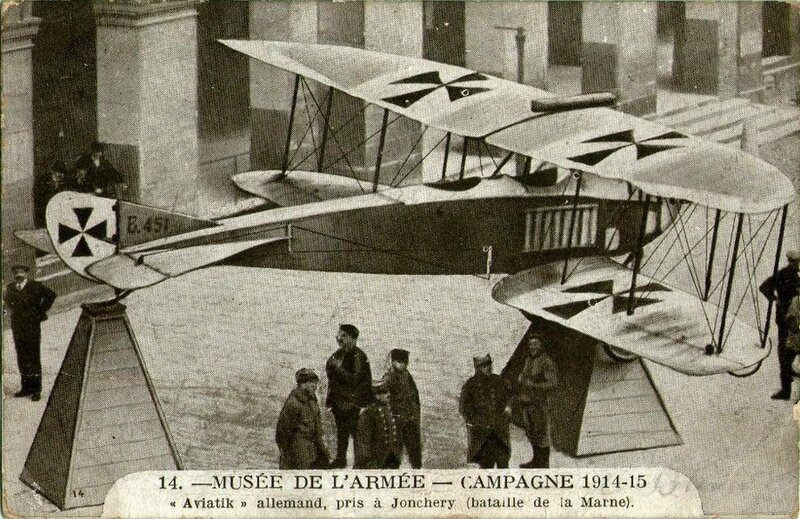 CPA Avion Allemand Aviatik