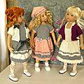 Quelques tenues tricotées....pour little darling, chéries de corolle ou minouche