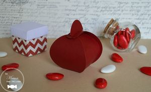 ballotin drages mariage thme amour ou passion - Contenant Drages Mariage Champetre