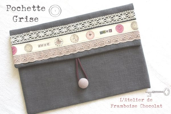 Pochette grise L'Atelier de Framboise Chocolat_4