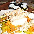 Brochettes citronnelle au saumon