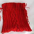 sac rouge torsadé b