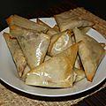 Brick a la mozzarella et au jambon fume