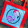 Un tote bag flamand rose avec coupon lcdm