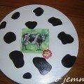 plateau tournant vache