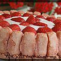 P'tite charlotte aux fraises et aux biscuits de reims