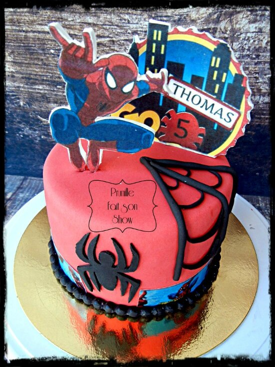 gateau spiderman prunillefee 1