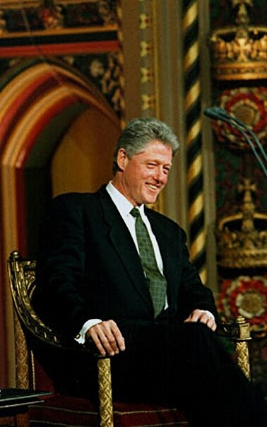 1995-Bill Clinton au Parlement de Londres