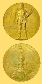 Médaille or JO 1920 Anvers