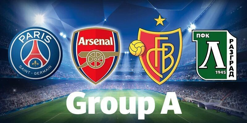 Champions League groupe A Arsenal - Psg - Basel- Ludogorets