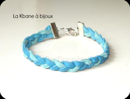 bracelet tresse daim turquoise effet cuir3