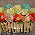 Gâteau jardinière fleurs azyme