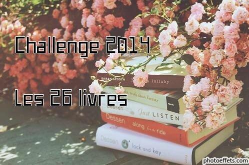 Challenge 2014, Les 26 livres