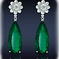 Emerald diamond earrings at jacob & co.