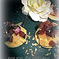 Mini tartelettes à la crème pâtissiere aux fruits touch