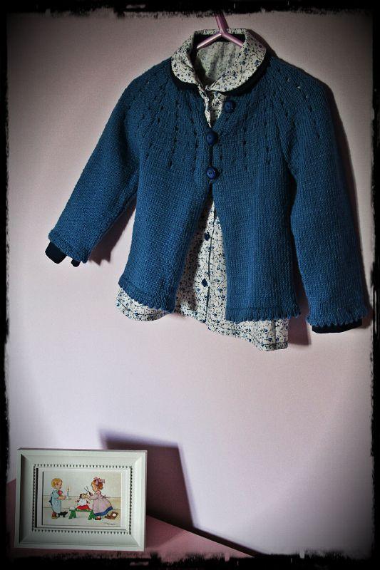 blouse bleue Alice cintre