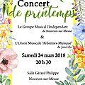 Concert de printemps à nouvion le 24 mars