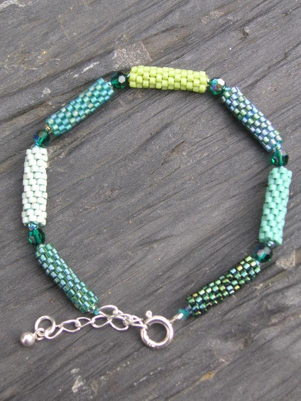 Bracelet rouleaux peyote