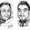 Caricatures Couple de maris - Cadeau Mariage