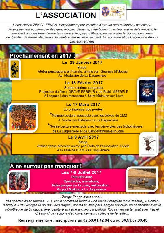 Programme Zenga-Zenga 2017