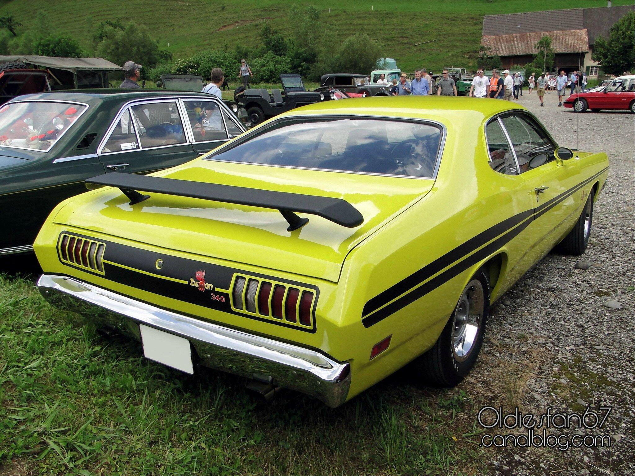 Dodge demon 340 fastback coupe 1971 oldiesfan67 quot mon blog auto quot