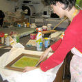Screenprinting weekend #1: the japanese paper