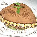 Gâteau mousseux chocolat caramel