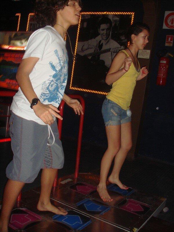 Jeremy, et Alexia à Juan aux jeux