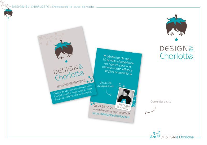Populaire DESIGN BY Charlotte : Carte de visite - DESIGN BY Charlotte  RQ46