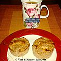 Muffins pomme-banane-cannelle aux flocons d'avoine