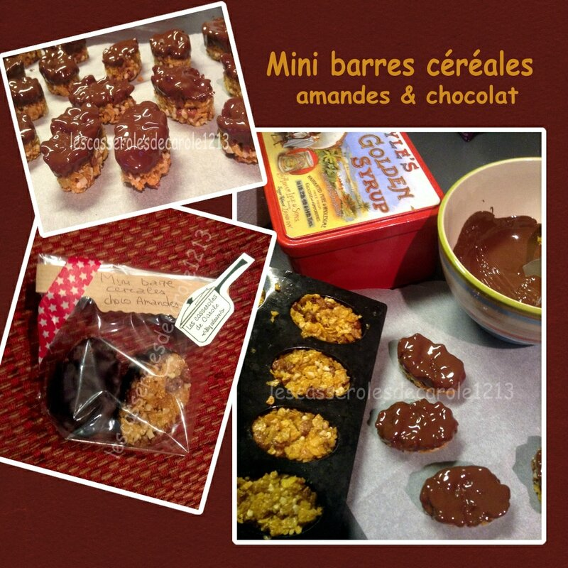 mini barres céréales amandes choco (SCRAP)
