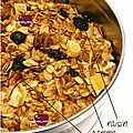 ..granola automnal, encore plus light..